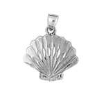 925 sterling silver scallop seashell charm