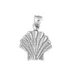 925 sterling silver 11mm scallop shell charm