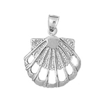 925 sterling silver cut-out scallop shell charm