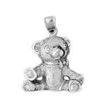 925 sterling silver teddy bear with open arms charm pendant