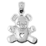 925 sterling silver 16mm teddy bear charm