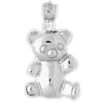 925 sterling silver 17mm teddy bear charm