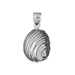 925 sterling silver 11mm mollusk shell charm