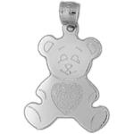 925 sterling silver teddy bear charm