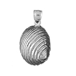 925 sterling silver 13mm mollusk shell charm