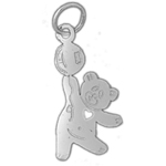 925 sterling silver teddy bear with balloon charm