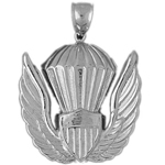 925 sterling silver us air force emblem charm pendant