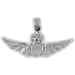 925 sterling silver us air force wings military charm pendant