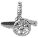 925 sterling silver cannon charm