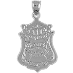 925 sterling silver san antonio pd badge charm