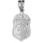 925 sterling silver ipss police badge charm