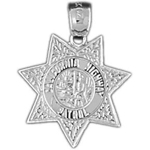 925 sterling silver california highway patrol badge charm pendant