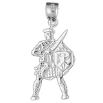 925 sterling silver ancient warrior charm