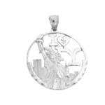 925 sterling silver i love new york statue of liberty charm pendant