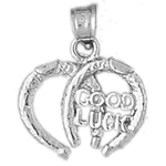 925 sterling silver good luck horseshoe lucky charm