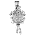 925 sterling silver cuckoo clock charm