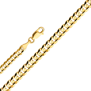 14k gold 7mm cuban concave chain