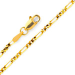 14k gold 2mm figaro chain