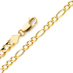 14k gold 2.7mm figaro chain