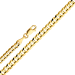 14k gold 6mm cuban concave chain