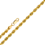 14k gold 2mm solid rope chain