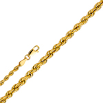 14k gold 2.5mm hollow rope chain