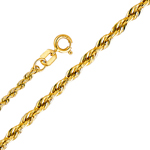 14k gold 2mm hollow rope chain