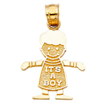 14kt gold it's a boy baby charm