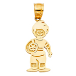 14k gold boy with ball charm