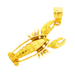 14kt gold lobster pendant