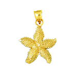 14kt gold starfish sealife charm