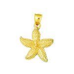 14 karat gold starfish charm