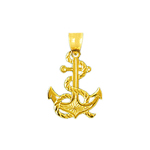 14k gold anchor charm pendant