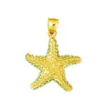 14k gold sealife starfish charm