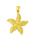 14k gold tropical starfish pendant