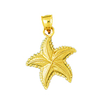 14k gold charming starfish charm