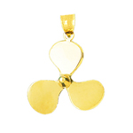 14k gold 26mm propeller charm pendant