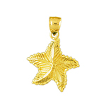 14kt gold charming starfish charm