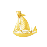 14 karat gold ketch sailboat pendant