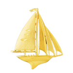 14k gold 45mm sailboat charm pendant