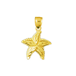 14k gold small starfish charm