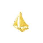 14k gold single mast sloop sailboat nautical charm