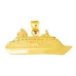 14k gold 48mm ocean liner cruise ship charm pendant