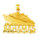 14k gold bahamas cruise ship pendant