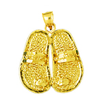 14k gold 15mm toe ring sandals charm