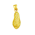 14k gold small flip flop charm