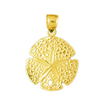 14k gold 16mm sand dollar charm