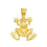 14k gold 18mm frog pendant