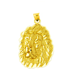 14k gold lion head charm