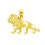 14k gold 24mm lion charm
